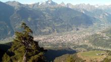 View to Aosta city