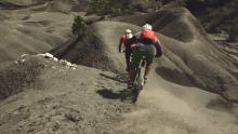 Richie Schley and Manfred Stromberg riding around Digne les Bains